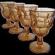 SALE Westmoreland Ashburton Golden Sunset Water Goblets set of 4
