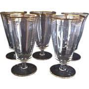 SALE 5 West Virginia Glass Ice Tea Goblets