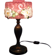 Pairpoint puffy cased pink Windsor miniature lamp