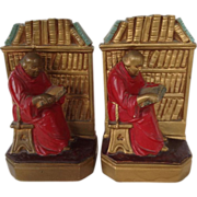 SALE Vintage Monk Bookends