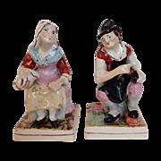 SALE Pair Staffordshire Figures, 19th Century