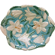 Outstanding 19th Century Majolica Dish, Lily Pattern