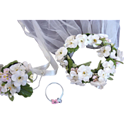 SOLD MINT vintage Madame Alexander Elise veil bouquet and garter