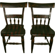 SOLD Matched Pair Early 19th Century (Circa 1825-45) Federal Era Pennsylvania / New England ..