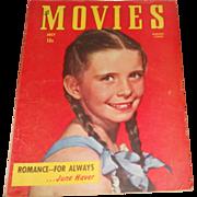 SOLD July 1947 Movies Magazine~Margaret O'Brien Cover~Burt Lancaster/Rita Hayworth/Gregory Pec
