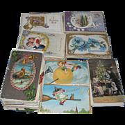 SOLD Lot of ~400~ Damaged for Craft/Decorating Postcard Lot~Santa/Halloween/Christmas/Easter +