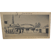 SOLD 1950's Postcard~Capital Garage & Service Station/Cafe~Amarillo, Texas
