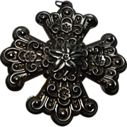 Reed and Barton Sterling Cross Christmas Ornament 1974