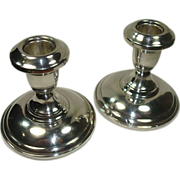 Elgin Silversmiths Weighted Candle Holders