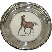 SALE Frank M Whiting Sterling Gallant Fox Coaster