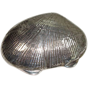 Sterling Clam Shell Pill Box