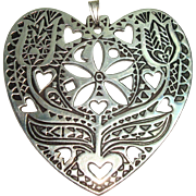 Gorgeous Museum of Modern Art Heart and Floral Christmas Ornament