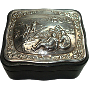 Gorgeous Vintage London Sterling and Leather Jewelry Box