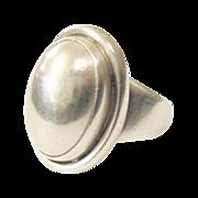 Georg Jensen Denmark Art Deco Silver, Sterling Ring c 1930 signed