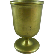 Very Early Antique Bronze Footed Cup Beaker