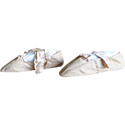 Antique Georgian Ball Shoes or Slippers with Provenience, Antique Shoes, antique slippers, ca.