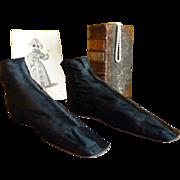 Romantic Period Boots, Antique Shoes, Antique Boots, Paris, ca 1830