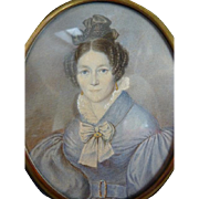 SOLD Portrait Miniature, Biedermeier, Germany, around 1832