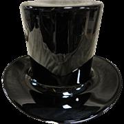 Large Blenko Black Hate Ice/Wine Bucket Vase