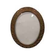 Victorian Bronze Floral Picture Frame