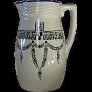 Secessionist Design Ceramic Pitcher, Germany/Austria, early 1900's