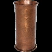 SALE Arts & Crafts Style Hand Hammered Copper Beaker or Vase, W. H. Dunstan, US