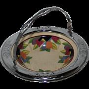 SALE Art Deco Lehigh Pottery Farberware Handled Bowl