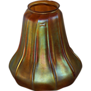 Steuben Irridescent Gold Aurene Lamp Shade