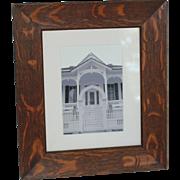 Arts & Crafts Era Quartersawn Oak Picture Frame