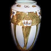 Large Royal Doulton Lambeth Art Nouveau Vase Artist Signed Nellie Garbett 1881 – 1910
