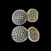 Vintage Pewter Golf Ball Cufflinks