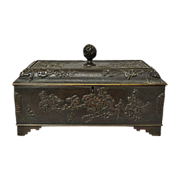 French Bronze Chinoiserie Style Bronze Box C 1880