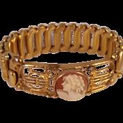 Gold Filled Child's Stretch Cameo Bracelet