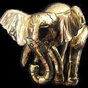 SALE Sterling Silver Elephant Brooch Pin