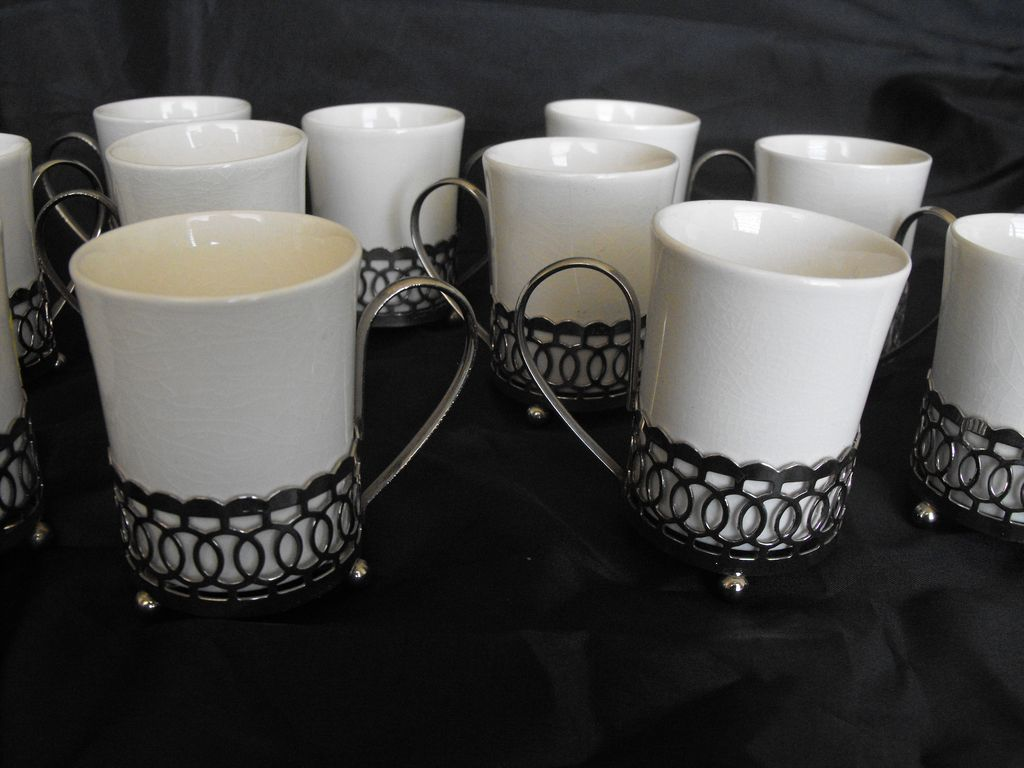 Wedgwood enoch tunstall england set of demitasse cups from for S furniture tunstall
