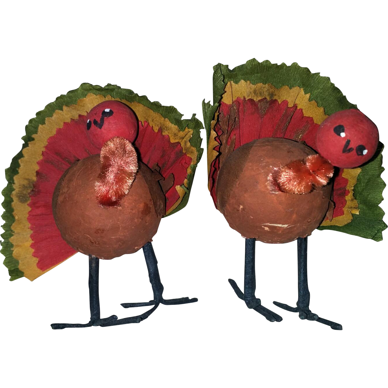 Decorating Ideas > Crepe Paper Vintage Turkey Thanksgiving Decor From  ~ 080207_Thanksgiving Vintage Decorations
