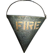 SALE Galvanized Early Fire Sand Bucket Pail Cone Shape