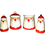 SALE PENDING Santa Sugar Creamer Salt and Pepper set