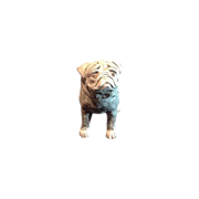 Terra cotta Pug Dog Sculpture