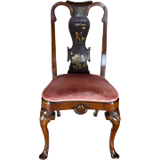 """Lacquered """"Japanning"""" Queen Anne Chair"""
