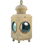 Shabby Chic Fisheye Metal Lantern