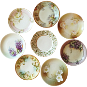 Collection of Eight (6 inch) Victorian Hand Painted Plates