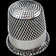 SOLD 1900's Silver Thimble, Ketchum & McDougall, Sz 10