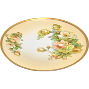 Royal Munich Z.S. & C Bavaria, Peach and Green Rosebuds Hand Painted Cabinet Plate 8 ...