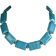 REDUCED Vintage Chinese turquoise and sterling silver necklace