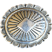 REDUCED Vintage Native American Indian sterling silver signed pin brooch