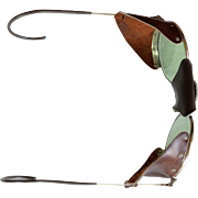 Vintage motorcycle aviator leather sunglasses unisex