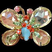 SCHREINER NEW YORK Butterfly Brooch Pin