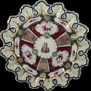 Antique Nippon scalloped portrait plate Marechal Lefebvre 10 inches