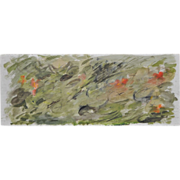 SOLD Vintage 1960's Orignal Abstract Watercolor by R. Harvey
